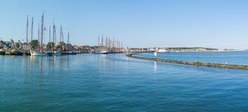 Harbor of Wadden sea island Terschelling, Netherlands Royalty Free Stock Photos