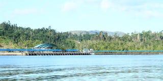 Harbor in Waisai Royalty Free Stock Photo