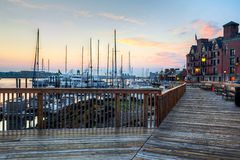 Harbor Walk, Boston, at sunrise Stock Photography