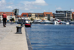 Harbor in Waren Stock Photo
