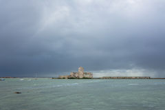 Harbor and waterfront in Trapani, Sicily Royalty Free Stock Image