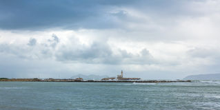 Harbor and waterfront in Trapani, Sicily Stock Photos