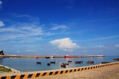 Harbor of weizhou. View of harbor weizhou island. Guangxi. China Stock Images