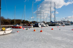 Harbor in the winter Royalty Free Stock Photography