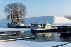 Harbor at winter. Klaipeda Royalty Free Stock Images