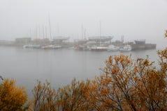 Harbor yacht club in Arkhangelsk. Morning. Harbor yacht club in Arkhangelsk Royalty Free Stock Photo
