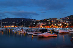Harbor with yachts in Lerici, Italy Royalty Free Stock Images