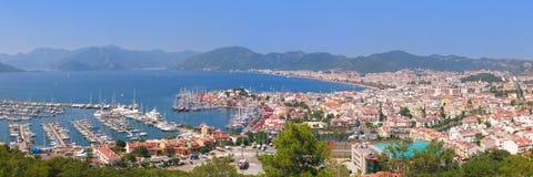 The harbor, yaht and beaches Royalty Free Stock Photo
