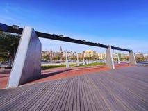 Harbor zone of Barcelona Stock Photos