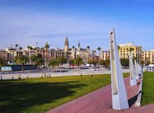 Harbor zone of Barcelona Royalty Free Stock Photo