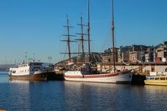 Harborfront i Oslo Norge Arkivbilder