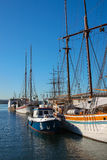 Harborfront i Oslo Norge Arkivfoton