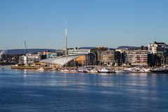 Harborfront in Oslo Norway Stock Photography