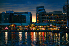 Harborplace-Licht-Straßen-Pavillon in Baltimore MD lizenzfreie stockbilder
