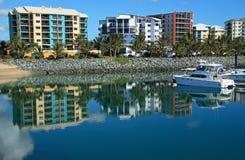 Waterside apartments stock photos