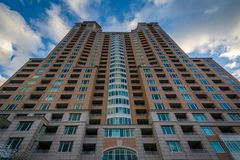 The Harborview Tower, in Baltimore, Maryland.  royalty free stock images
