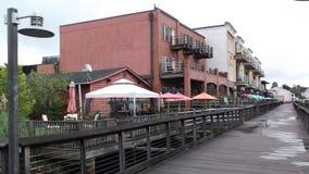 Harborwalk乔治城南卡罗来纳美国 免版税库存照片