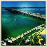 Harborwalk Village marina in Florida Stock Photo