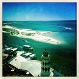 Harborwalk Village shoreline in Florida Stock Photos