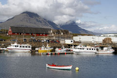Harbour. In Djupivogur - beautiful seaside town in eastern Iceland Royalty Free Stock Images