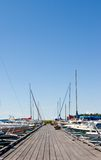 Harbour. Boats in the harbour against blue sky Royalty Free Stock Image