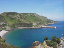 Harbour. Bouley Bay Harbour on the North Coast of Jersey, Channel Islands Stock Photo