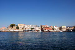The harbour. Of Chania on Crete Stock Photo