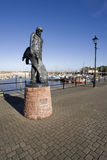 Harbour. Statue of the ancient mariner at watchet somerset england uk Stock Photos