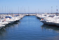 Harbour. A little harbour in Diano Marina in Liguria, Italy royalty free stock images