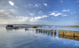 Harbour. Seascape taken in greenock scotland Stock Image