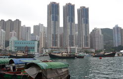 Harbour in Aberdeen - Hong Kong - China Royalty Free Stock Image