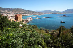 Harbour of Alanya city. Turkey Royalty Free Stock Photo