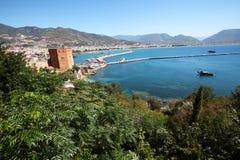 Harbour of Alanya city. Turkey Royalty Free Stock Photo