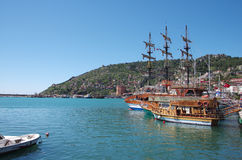 Harbour of Alanya, Turkey Stock Images