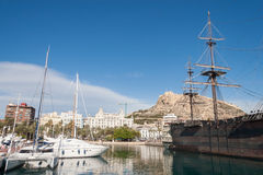Harbour of Alicante, Spain Stock Photos