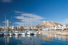 Harbour of Alicante, Spain Royalty Free Stock Photography