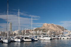 Harbour of Alicante, Spain Royalty Free Stock Images