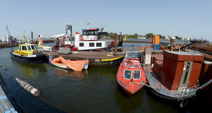 Harbour of amsterdam Stock Photography