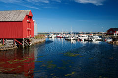 Harbour of andenes Royalty Free Stock Images