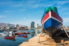 Harbour at Antofagasta in the Atacama Region of Chile Royalty Free Stock Image