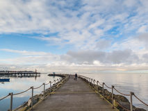 Harbour arm wall Herne Bay, Kent, Uk Royalty Free Stock Photography