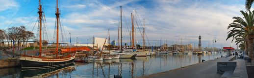 Harbour in Barcelona Royalty Free Stock Photo