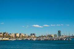 Harbour in Barcelona Royalty Free Stock Photography