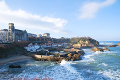 The harbour of Biarritz Royalty Free Stock Image