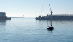 Harbour with boat at Cape Town Royalty Free Stock Photos