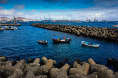 Harbour with boats Stock Image