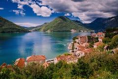 Harbour at Boka Kotor bay (Boka Kotorska), Montenegro, Europe. Harbour and yachts at Boka Kotor bay (Boka Kotorska), Montenegro, Europe stock image
