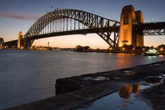 Harbour Bridge. Sydney Harbour Bridge just after sunset royalty free stock photography