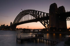 Harbour Bridge. Sydney Harbour Bridge just after sunset royalty free stock images