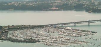 Harbour Bridge And Sail Port Stock Image